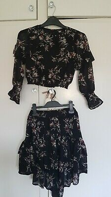 Girls Age 8 River Island Top & Skirt Set Practically New!