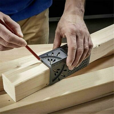 Wood Working Ruler 3D Mitre Angle ABS Square Gauge Parallel Pipes Measuring Tool