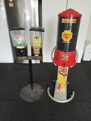 CHUPA CHUPS &  double candy VENDING MACHINES    bulk lot used.