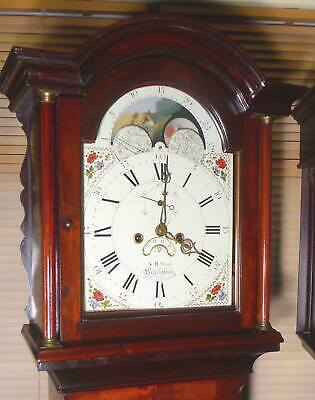 "Antique Mahogany Moon Phase  ""Billingborough""  Longcase / Grandfather Clock"