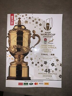 Rugby World Cup Final Eng V SA Official Souvenir Programme Japan 2019 Brand New