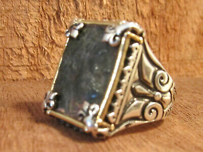 Authentic Ancient Roman Emperor Hadrian Silver Bronze Mens Ring!