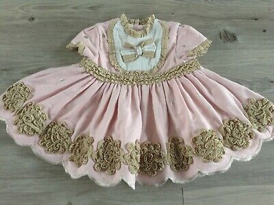 (2) Lolittos Baby Girls Spanish/Romany Traditional Lined Dress Age 9Mths(Looks S