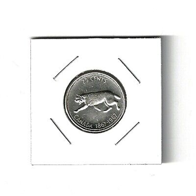 1967 Canada Centennial Silver Quarter 25 Cent and Collector Packaged (Item #2B)