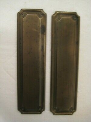 Old Pair of Large Steel Finger Push Plates