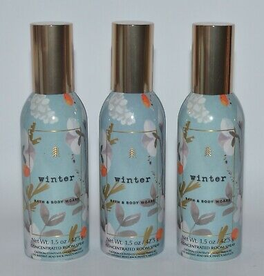 3 Bath & Body Works Winter Concentrated Room Spray Perfume Mist Air Freshener