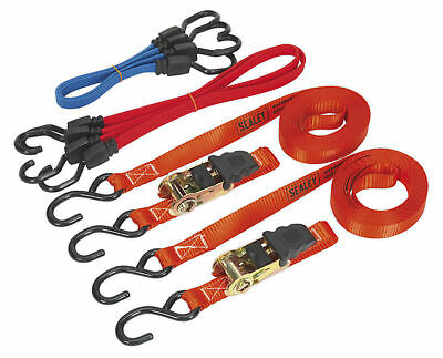 Sealey TD285SBD Tie Down & Bungee Cord Set 6pc
