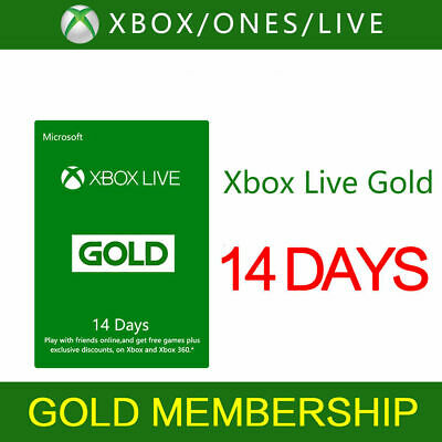XBOX Live 14 Day GLOBAL (2 weeks) Gold  Code Instant Dispatch 24/7