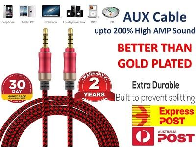 NEW AUX Cable 3.5mm Stereo Audio Input Extension Male to Male Auxiliary Car Cord