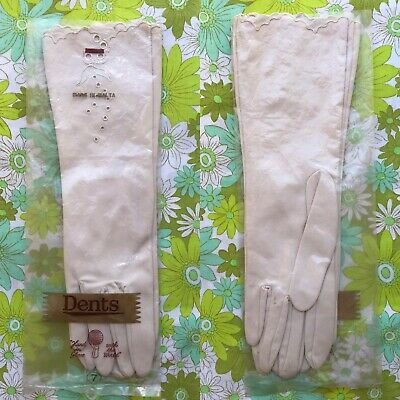 Vintage DENTS GLOVES 1950s 1960s ladies accessory pair of Packaging Size 7
