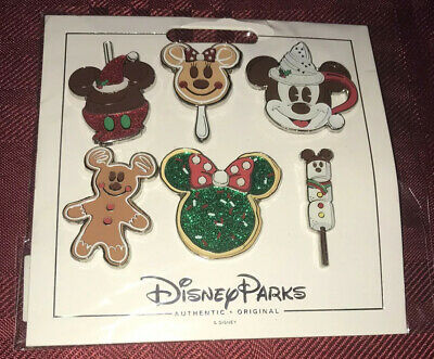 Disney Parks 2019 Christmas - Holiday Treats Booster Pack 6 Pin Set NEW