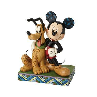 Jim Shore Disney Traditions - Mickey and Pluto Best Pals Figurine 4048656