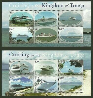TONGA CRUISE SHIP SHEETS - Mint **NH** cv$55.00
