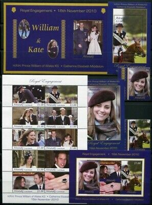 Aitutaki  - William & Kate ROYAL WEDDING  (NEVER HINGED) cv$113.00