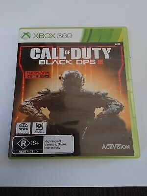 Call Of Duty Black Ops III 3 - X Box 360 Game~ Like New Condition~Free Postage