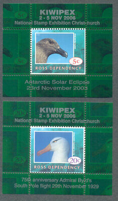 Ross Dependency-2006 Kiwipex-Birds set of 2 mnh mini sheets-uncommon