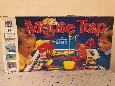 Vintage 1996 Mb Games Mouse Trap Long Box Edition Board Game -1 Mouse Missing