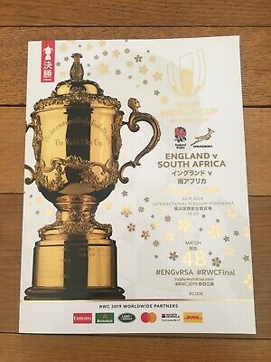 2019 Official Rugby Union World Cup Final Programme England v South Africa