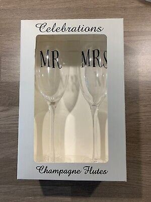 Mr and Mrs Champagne Flutes*