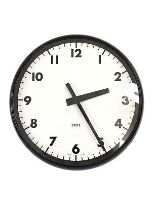Black Gent Gents Of Leicester Industrial Railway Station Factory Wall Clock