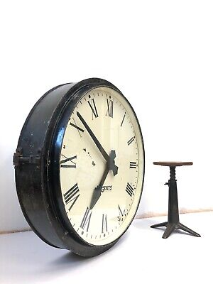 Huge Large Gents Gent Of Leicester Industrial Railway Station Platform Clock