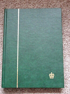 Green  A4 - 24 Black Pages Stamp Stockbook , Excellent Condition