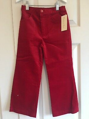 Girls Red Cord Trousers Age 6 Christmas New