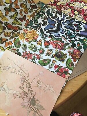 Paper Stock Fairies And Butterflys Crafts Scrapbook Card Making