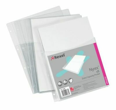 Rexel Nyrex Extra Capacity Pocket A4 Clear (Pack of 5) 13680