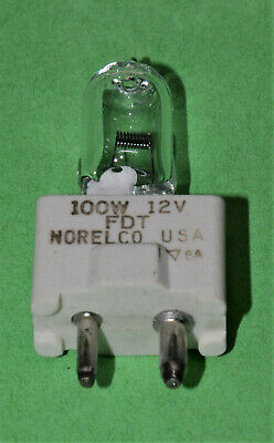 PROJECTOR GLOBES 12 volt 100 watt  NORELCO made in USA (QTY 2 for this price)