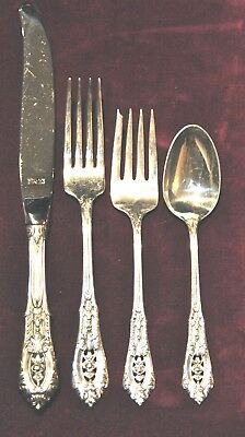 Rose Point By Wallace Sterling Flatware Set For 12 Free Shipping