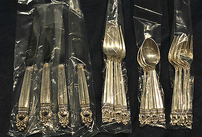 Royal Danish Sterling Silver  8  Place Size Settings With 3 Servers More Av.