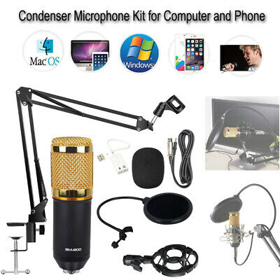 BM-800 Studio USB Wired Condenser Microphone KTV Tool For iphone Computer Phone