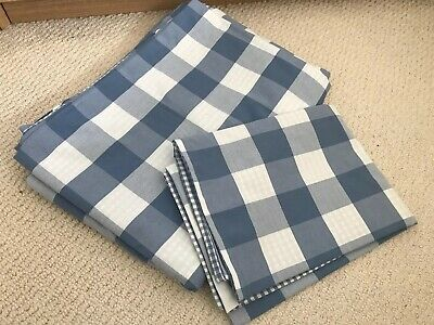 The Little White Company Reversible Blue Gingham & Check Single Bed Set