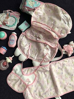 Baby Annabell Dolls Sheep Changing Bag With Dummy -Nappies - Etc