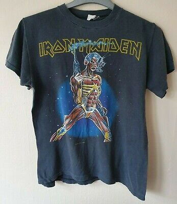 Rare Vintage Iron Maiden 'Somewhere On Tour' T-Shirt - 1986. (33 years old!)
