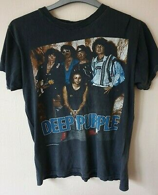 Rare Vintage Deep Purple - House of Blue Light Tour T-Shirt 1987. 32 years old!