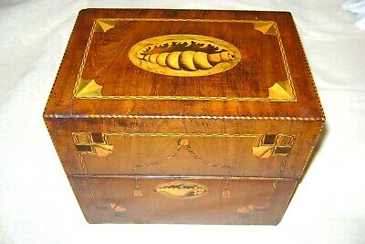 18/19th Century A George the 3 rd Mahogany Five Bottle Decanter Box