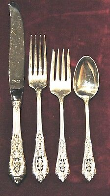 Rose Point By Wallace Sterling Flatware Set For 6  Free Shipping And Free Box