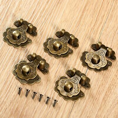 Drawer Cabinet Jewelry Wooden Case Box Lock Staple Latch Hasp Vintage Latch Hasp