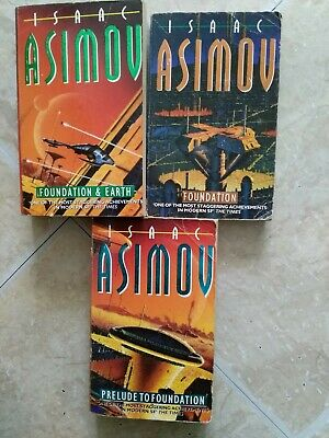 Isaac Asimov Foundation Series 3 Paperback Books Science fiction