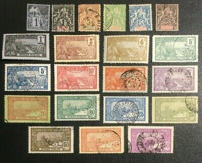 French Guadeloupe Collection Of Old Stamps, 2 Pics