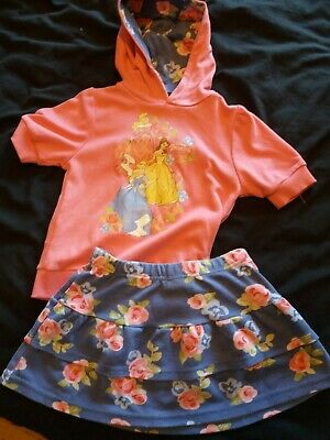 Disney Princess Hooded Top And Skirt Set Age 5-6