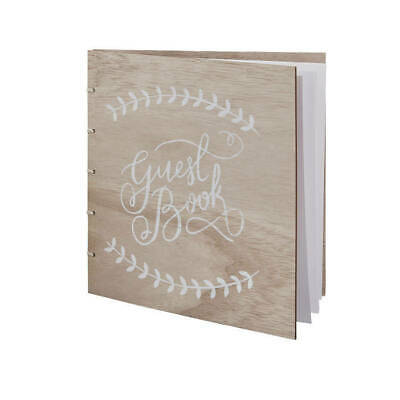 Ginger Ray Vintage Wooden Wedding Guest Book -