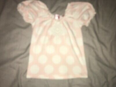 Girls Clothes pink top white sporty detail age 4-5 years