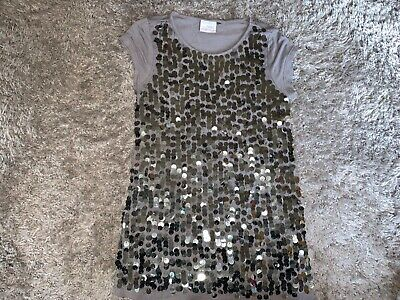 Girls Clothes Next grey sequin top age 6-7 years