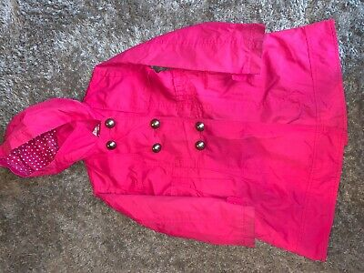 Girls Clothes Jasper Conran pink raincoat age 6-7 years