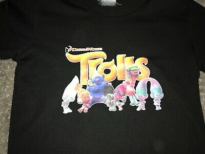 Girls Clothes black top trolls motif age 7-8 years