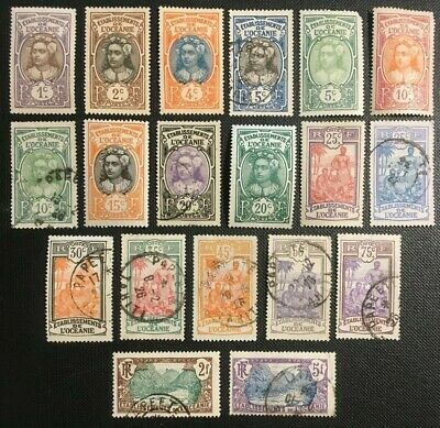 French Oceanica Polynesia Collection Of Old Stamps, 2 Pics