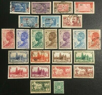 French Ivory Coast Collection Of Old Stamps